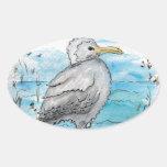 Seagull Design Sticker