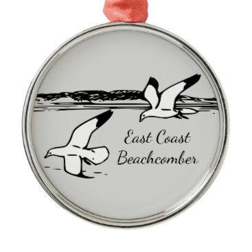 Beach Themed Seagull  East Coast Beachcomber Christmas ornament