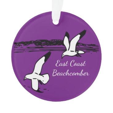 Beach Themed Seagull  East Coast Beachcomber Christmas ornament