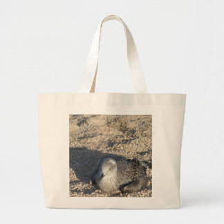 Seagull Enjoying The Sun Summer Photography Large Tote Bag