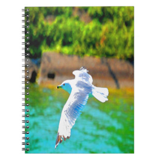 seagull fly to love paradise spiral note book