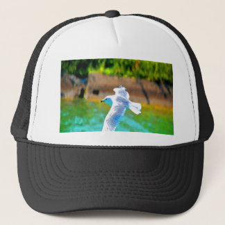 seagull fly to love paradise trucker hat