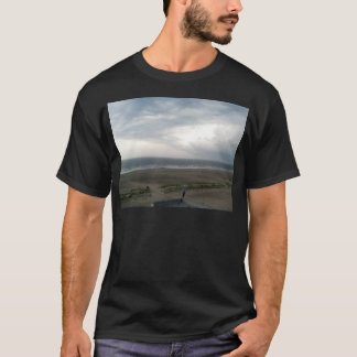 Seagull Flying in air as summer storm approaches T-Shirt