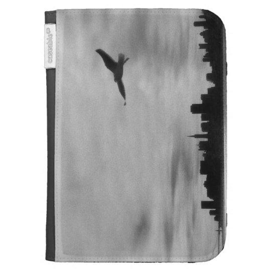 Seagull flying over skyline kindle 3 case