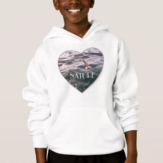 SEAGULL FLYING OVER THE WAVES HOODIE