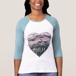SEAGULL FLYING OVER THE WAVES TSHIRTS