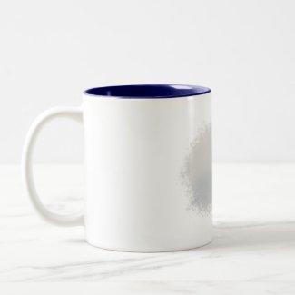 Seagull flying overhead mug