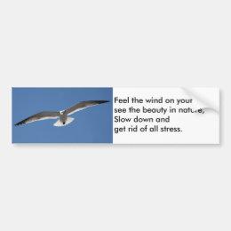 Seagull Flying Poem Bumper sticker