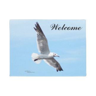 Seagull flying Welcome Doormat