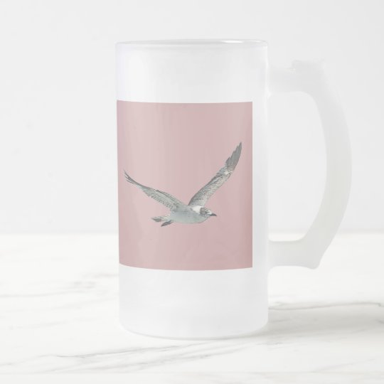 Seagull Frosted Glass Beer Mug