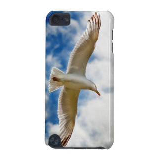 Seagull gliding in flight close up with blue skies iPod touch 5G cover