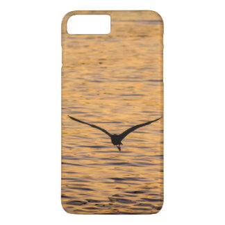 Seagull Gliding over Golden Sea iPhone 7 Plus Case