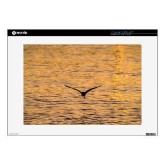 "Seagull Gliding over Golden Sea 15"" Laptop Skins"