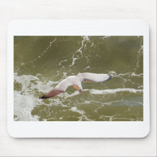 Seagull Gliding Over The Waves Mouse Pad
