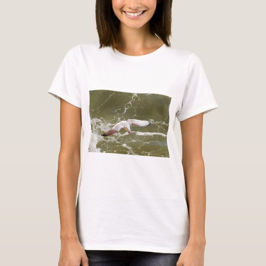 Seagull Gliding Over The Waves T-Shirt