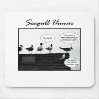 Seagull Humor Mouse Pad