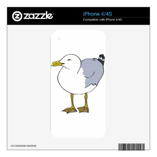 Seagull Illustration Decal For The iPhone 4S