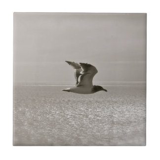 SEAGULL IN FLIGHT, MODERN DESIGN, UNIQUE LOOK CERAMIC TILE