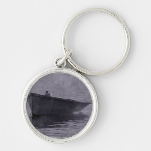Seagull In The Mist. Key Chain