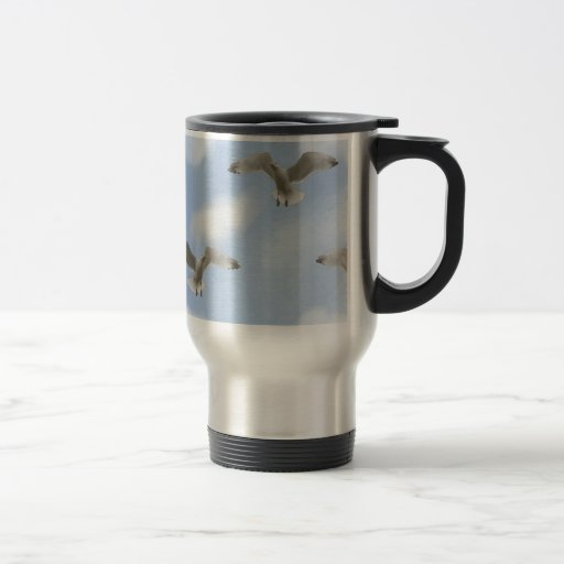 Seagull In The Sky Pattern Coffee Mugs