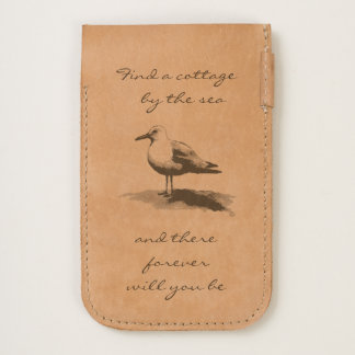 Seagull iPhone Leather Pouch