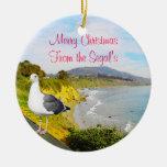 Seagull Island Christmas Ornament