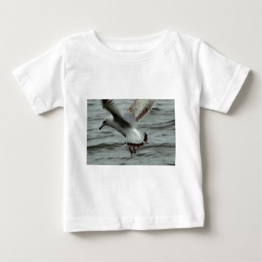 Seagull Landing in the Potomac River Baby T-Shirt