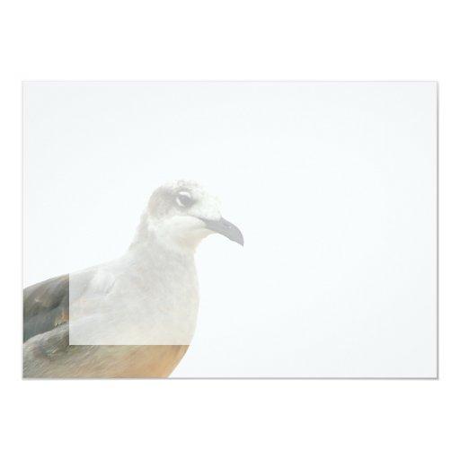 Seagull Left Corner of frame 5x7 Paper Invitation Card