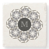 Seagull Marble Monogrammed Coaster