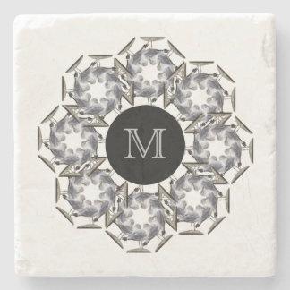 Seagull Marble Monogrammed Coaster