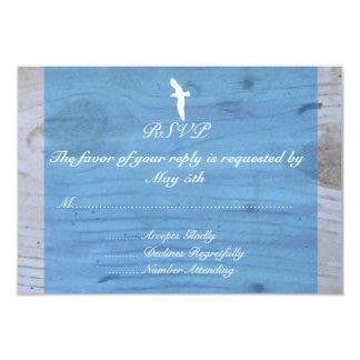 Seagull/Nautical Wedding RSVP Card