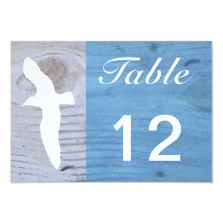 Seagull/Nautical Wedding Table Numbers