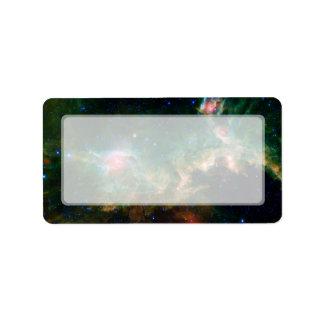 Seagull Nebula NASA Space Label