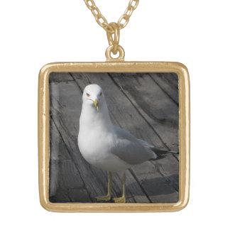 Seagull Square Pendant Necklace