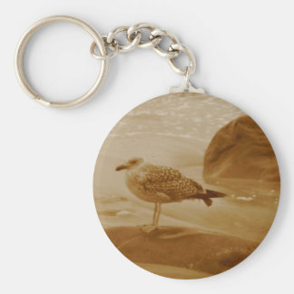 Seagull Ocean Products Basic Round Button Keychain