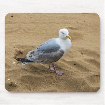 Seagull on a beach mousepad