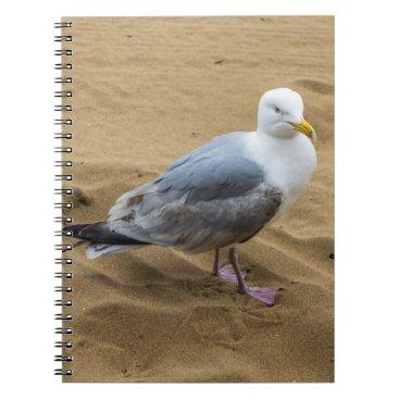 Beach Themed Seagull on a beach notebook