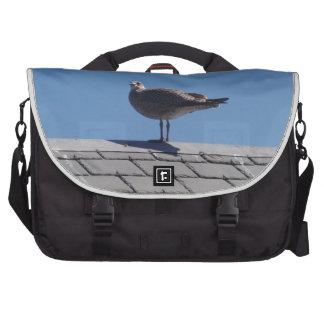 Seagull On A Slate Roof Laptop Shoulder Bag