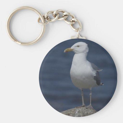 Seagull On Rock Key Chain
