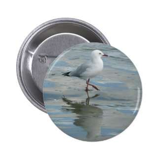 Seagull on the Beach 2 Inch Round Button