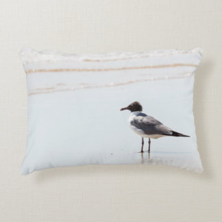 Seagull on the Beach Accent Pillow