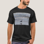 Seagull On The Beach at low tide on east coast T-Shirt
