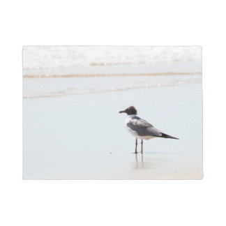 Seagull on the Beach Door Mat