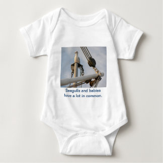 Seagull on the Rigging of a Boat Baby Bodysuit