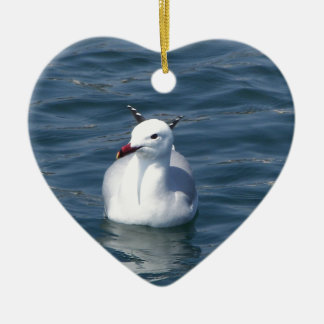 Seagull on the water ceramic ornament