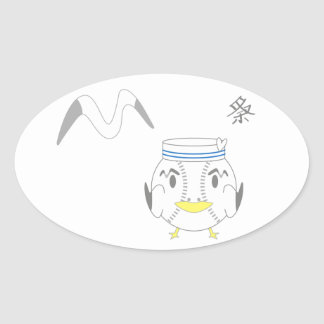 seagull oval sticker