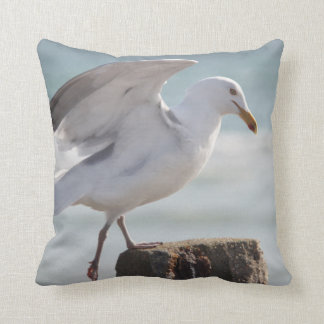 Seagull photo accent pillow