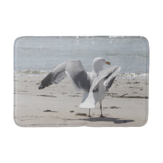 Seagull photo bathroom mat
