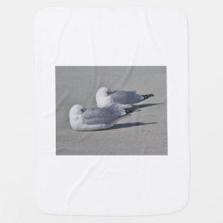 Seagull photography baby blanket