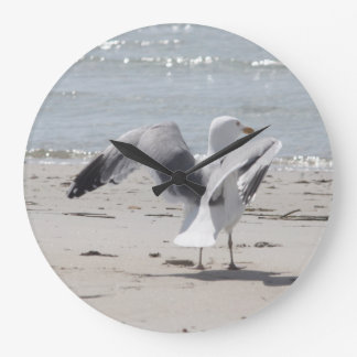 Seagull photography large clock